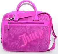JUICY COUTURE Laptop Bag, Fushcia, Velour & Patent Leather, Vintage