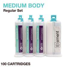 Element MEDIUM BODY VPS PVS Impression Material REGULAR Set 100 X 50ML Dental
