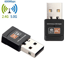 AC 600Mbps WLAN Stick dual band 2.4GHz/5GHz WIFI Dongle USB Wireless Adapter S2/