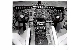 Boeing 707 Airplane Cockpit Control Cabin with Instruments ID'ed Press Release