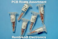 Assortment 6 x 25 HQ Rivets A to F - TH Eyelets for Double Sided PCB (US)