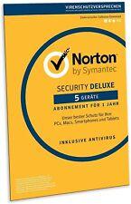 Norton Internet Security DELUXE 2021 für 5 Geräte 1 Jahr - PC MAC Android EMAIL