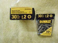 DEWALT DW2002B30 #2 Phillips 1-Inch Bit Tips with Bit Box (30-Pack) BRAND NEW!!