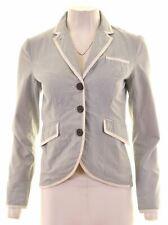 JACK WILLS Womens 3 Button Blazer Jacket Size 8 Small Blue Striped Cotton  KW01