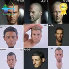 1/6 Male Head Sculpt A- Head Carving Hot Toys Fit 12'' Body Action Figure