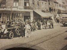 KNOCKE TRAM TERMINUS GARE DU TRAM  1928   DETAILED SEPIA POSTCARD