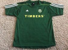 PORTLAND TIMBERS Soccer Jersey Youth Large 14-16 Green adidas MLS Awesome!
