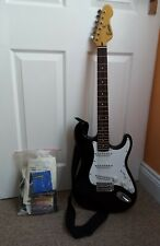 Encore - Black Electric Guitar - Includes Paperwork, Strap and CD