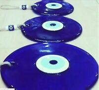 3 Pack Large Blue Evil Eye 18-13-9cm Glass Bead Pendant Charm Turkish Big Amulet