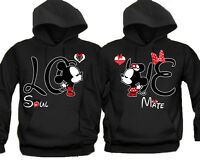 Soul Mate Love Disney Couple Matching HOODIE Sweatshirt S-5XL Mickey Minnie Fast