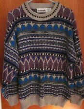 McGREGOR knit sweater XL vtg kitschy Digital Temple 1980s Medieval Electronica