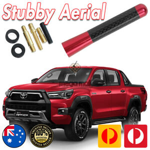 RED ANTENNA / AERIAL STUBBY BEE STING For Toyota Hilux SR5 7CM