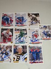 LOT OF 10 AUTOGRAPHED 1991/1992 UPPER DECK HOCKEY CARDS-ALL DIFFERENT