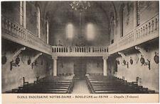 CPA 92 - BOULOGNE (Hauts de Seine) Ecole Diocésaine Notre-Dame Chapelle Tribune