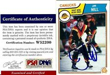 1983 OPC O Pee Chee Jim Nill VANCOUVER CANUCKS Signed Trading Card PSA/DNA #2