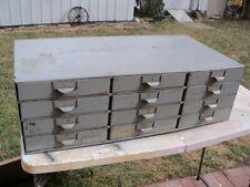 Vtg 12 Drawer Steel Metal Storage Tool Parts Cabinet Organizer Industrial Lyon