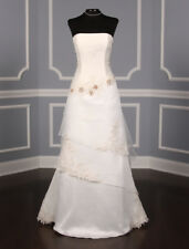 AUTHENTIC St. Pucchi Valencia Wedding Dress Ivory Aline NEW 10 RETURN POLICY