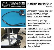 Flat Line Release Clip - Easy Cinch Strap - Adjustable Tension - Trolling