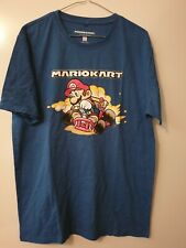 Mens new blue SUPER MARIO tee size M