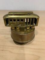 Vintage Solid Brass San Francisco Cable Car Trolley Revolving Music Box