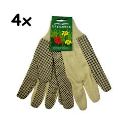 4x WUNDmed Gartenhandschuhe Garten Handschuhe Damen Textil Noppen