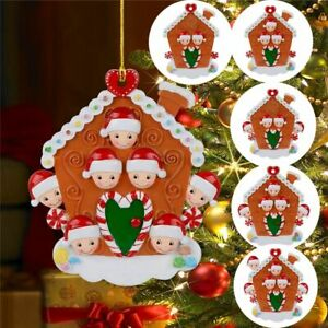 Christmas Tree Family Biscuit House Wooden Christmas Hanging Ornament