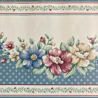 Tapetenbordüre Wandbordüre Borte Hellblau/Weiß Blumen Schleifen Art.-Nr.135228
