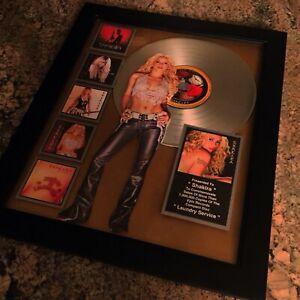 Shakira Laundry Service Million Record Sales Music Award LP Vinyl Disc Album