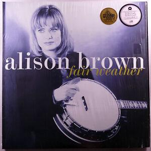 "ALISON BROWN Fair Weather 12"" 33RPM LP Grammy Winner Bluegrass Country NM!"