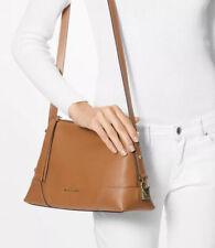 New Michael Kors Small crosby pebble leather Messenger shoulder bag Acorn gold