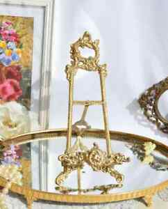 Collectibles Decor Arts Old Stand Easel For Picture Photo Bronze Baroque France