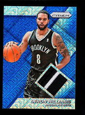 2014-15 PRIZM DERON WILLIAMS NETS PATCH SERIAL #ED 3/10