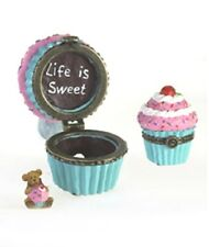 BOYDS TREASURE BOX NANA BETTY'S CUPCAKE w/LIL BEAR SWEETIE MCBIBBLE - E1