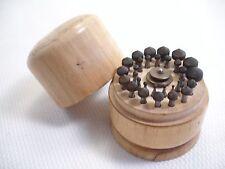 Vintage Clock Watch Repair 31 Piece France Cone Burr Bit Tool Set in Wood Case