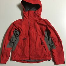 NIKE ACG Level 3 Storm-Fit Women's S Red Gray Hooded fullzip Snow Winter Jacket