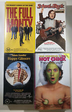 VHS Bundle x4 The Full Monty, School Of Rock, Happy Gilmore & Hot Chick - Movies