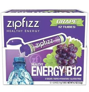 Zipfizz Healthy Energy 12 Tubes Grape (no box only the product)