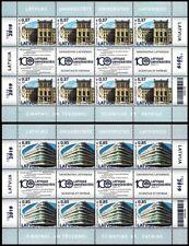 Latvia 2019 (16) University of Latvia - 100 years. Architecture (full sheets)