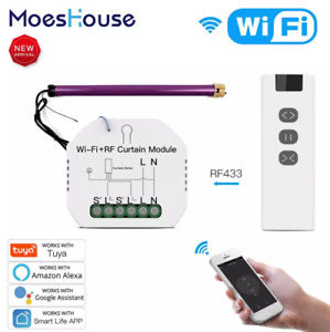 WiFi RF Smart Curtain Blinds Module Switch Roller Shutter Motor Tuya Wireless
