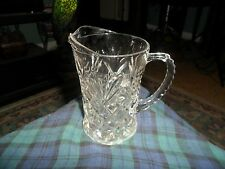 Vintage ANCHOR HOCKING Pineapple Crystal Glass SMALL CREAMER PITCHER Made In USA