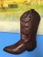 CODE WEST WOMENS  COWBOY LEATHER BLACK BOOTS SIZE 7.5 M