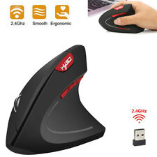 T24 2.4G Wireless Vertical Mouse Ergonomic 2400DPI 6 Keys Optical Mice for PC
