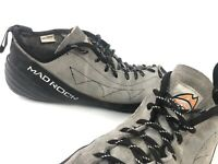 Mad Rock Men's 10 Gray Black Lace Up Rock Climbing Shoes