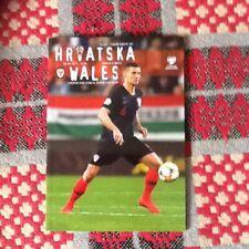 Croatia V Wales EURO's Qualifier Programme 08/06/19
