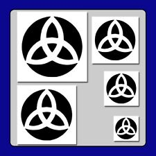 Set of 5 Triquetra Trinity Knots STENCILS in 5 Sizes! Irish/Celtic/Wiccan