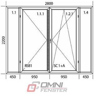 Terassentür auf Maß PVC 2800 x 2200 mm aus Polen Balkontür Fenster bis zum Boden
