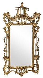 Chinese Chippendale Style Giltwood Pagoda Mirror