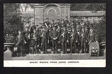 Lincoln - Sheaf Works Prize Band -  printed postcard