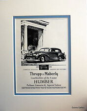 Original Vintage Car Advert mounted ready to frame Humber Pullman Limo 1951