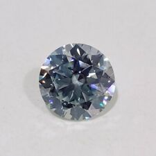 Blur Round Cut Loose Real Moissanite 4 Ring 0.94 Ct 6.44x 3.91 mm Vvs1 Off White